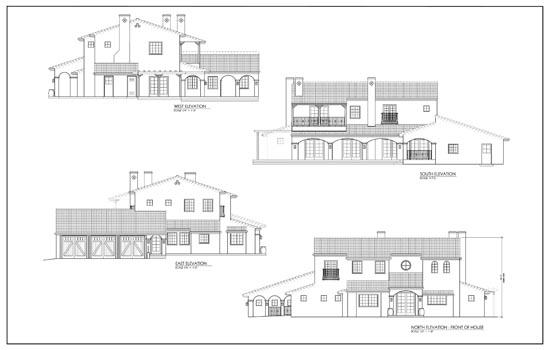 Elevation Plan In Spanish : Liminare design home remodle permit presentation